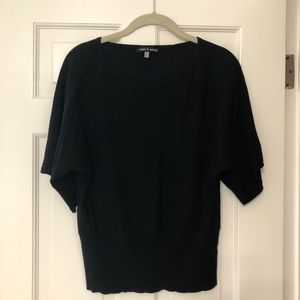 Cable & Gauge Black Short Sleeve Sweater